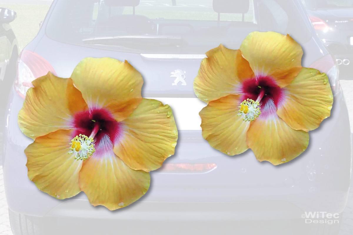 Hibiskus Blumen Auto Aufkleber Autoaufkleber Sticker