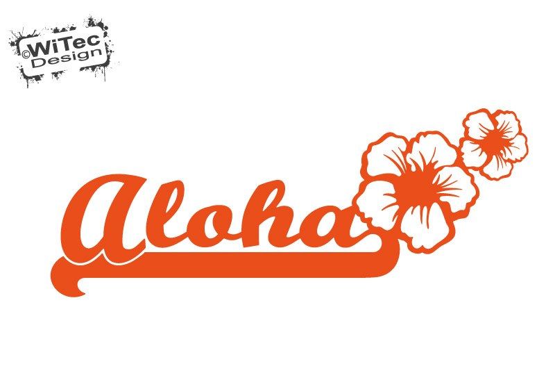 Autoaufkleber Aloha Hibiskus Hawaii Auto Aufkleber