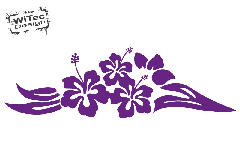 "Autoaufkleber Hibiskus Hawaii Blüte Blume ""Beauty"""