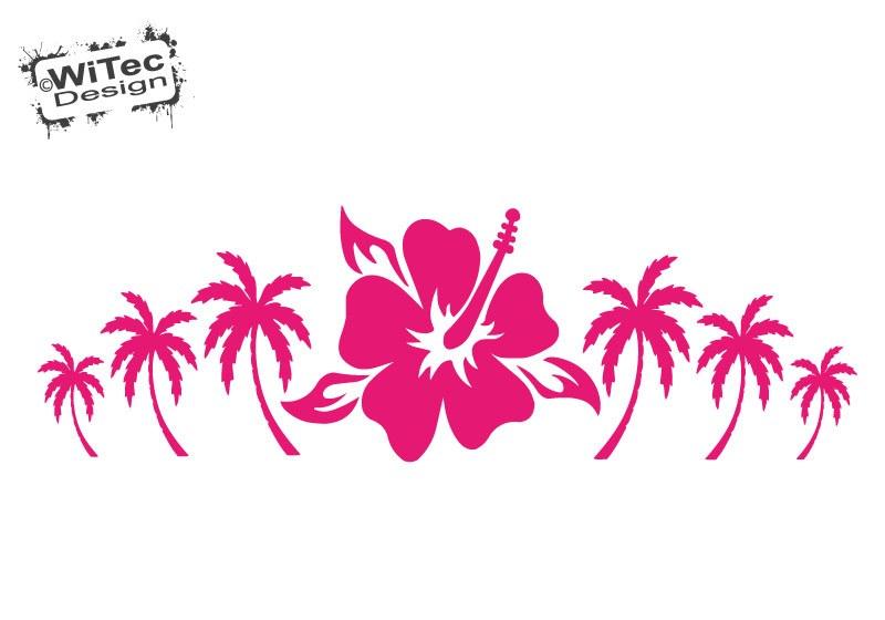 Hawaii Hibiscus Palme Autoaufkleber Auto Aufkleber
