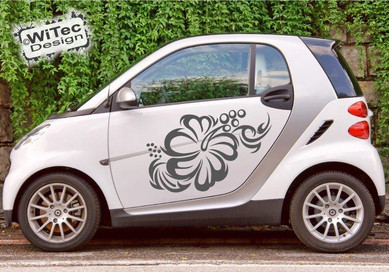 Hibiskus Hawaii Tribal Autoaufkleber Auto Aufkleber
