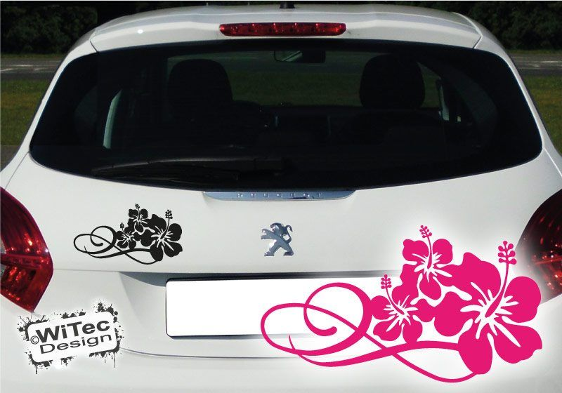 Autoaufkleber Hibiskus Blüte *Trinity* Blumen Aufkleber