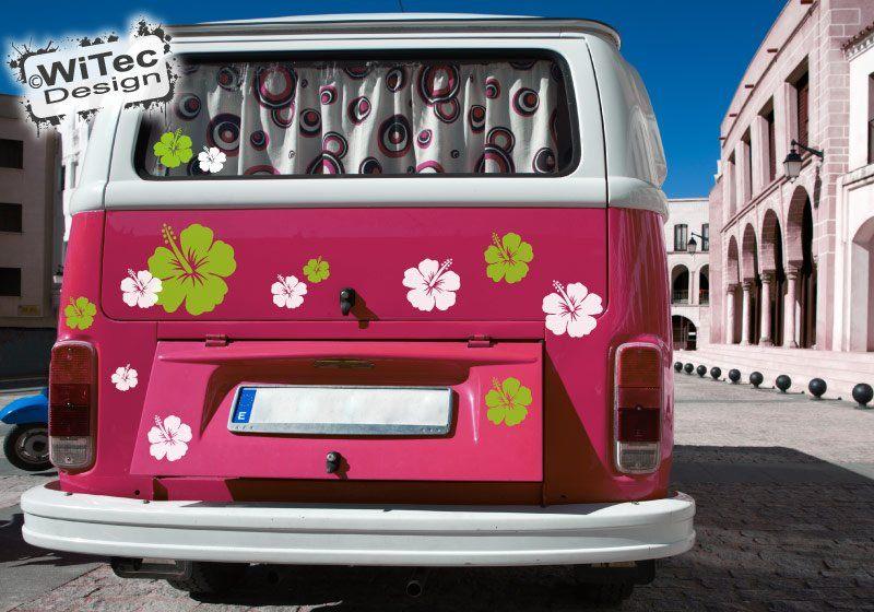 Hibiskus Blumenaufkleber 44 Stk Blumen Aufkleber camper van