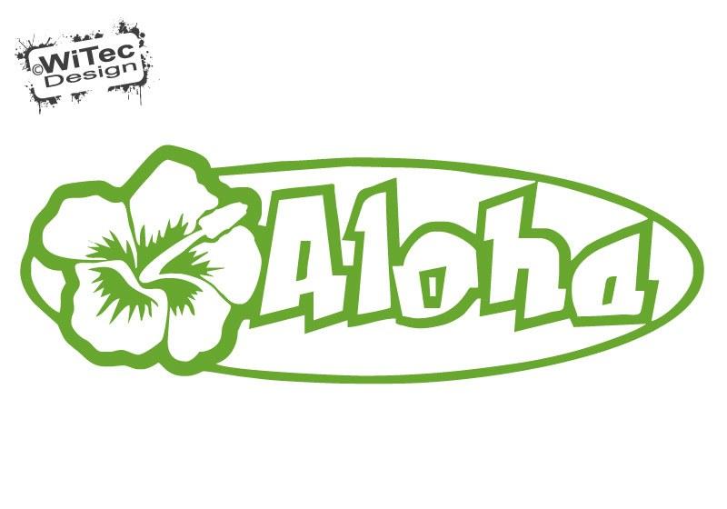 Autoaufkleber Aloha Hibiskus Hawaii Aufkleber Sticker Auto