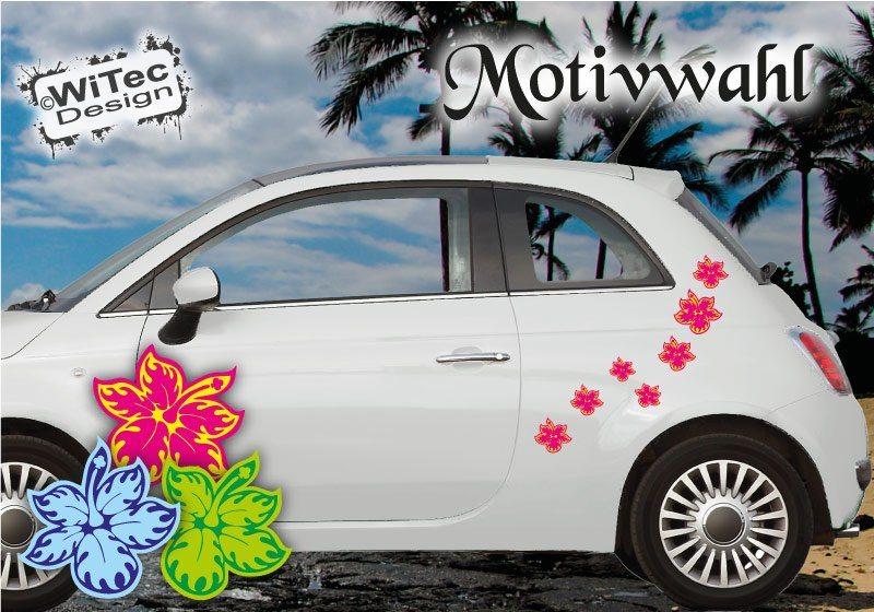 Hibiskus Hawaii Blumenaufkleber Auto Aufkleber