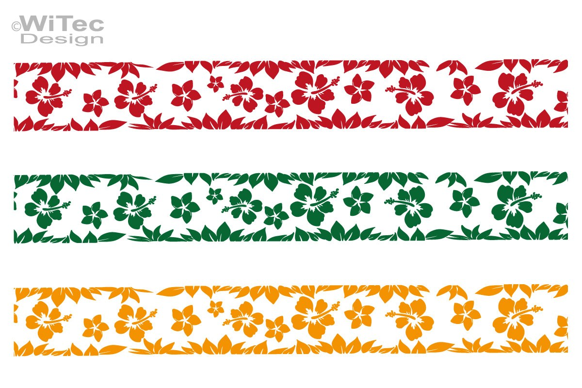 Autoaufkleber Hawaii Stripe Hibiskus Aufkleber