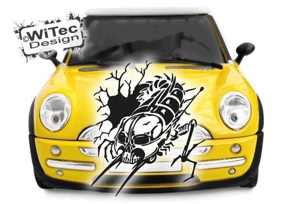 Autoaufkleber Hornisse Skull