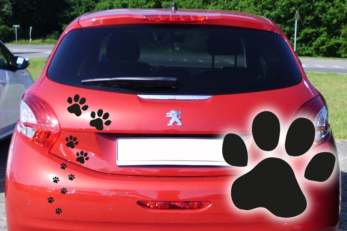 Hundeaufkleber Pfoten Hunde Aufkleber Auto