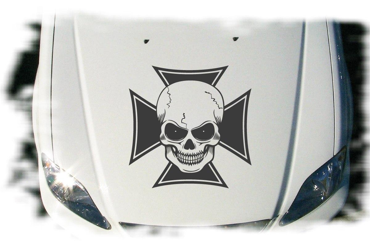 Autoaufkleber Iron Cross Skull Auto Aufkleber Tattoo
