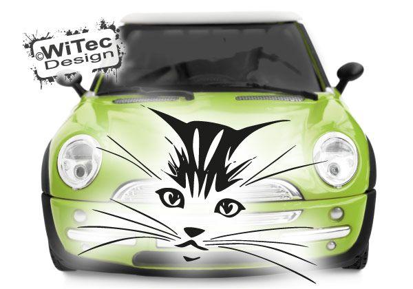 Katze Autoaufkleber Katzenkopf