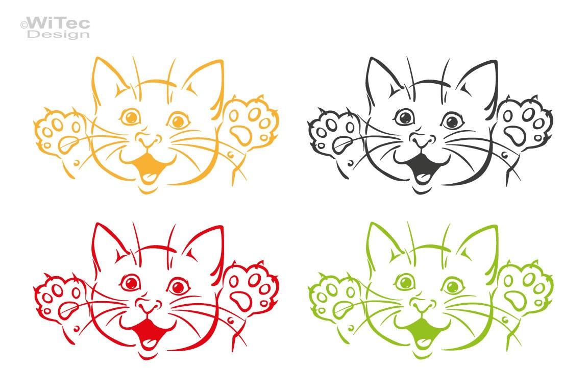 Autoaufkleber Katze Kitty Kätzchen Auto Aufkleber