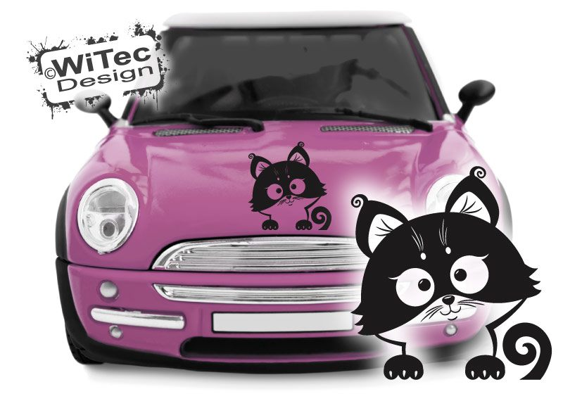 Katze Autoaufkleber Baby Kätzchen Auto Aufkleber