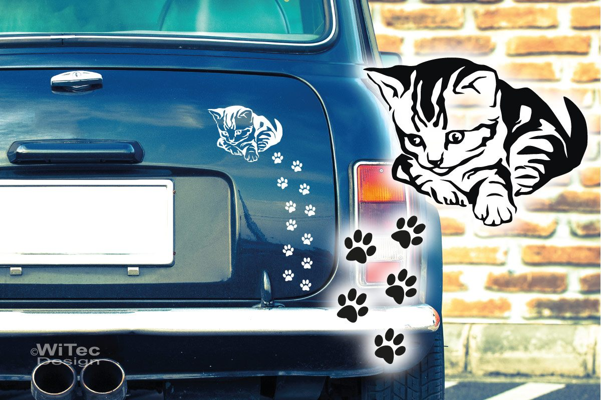 Autoaufkleber Katze Katzenpfoten Auto Aufkleber