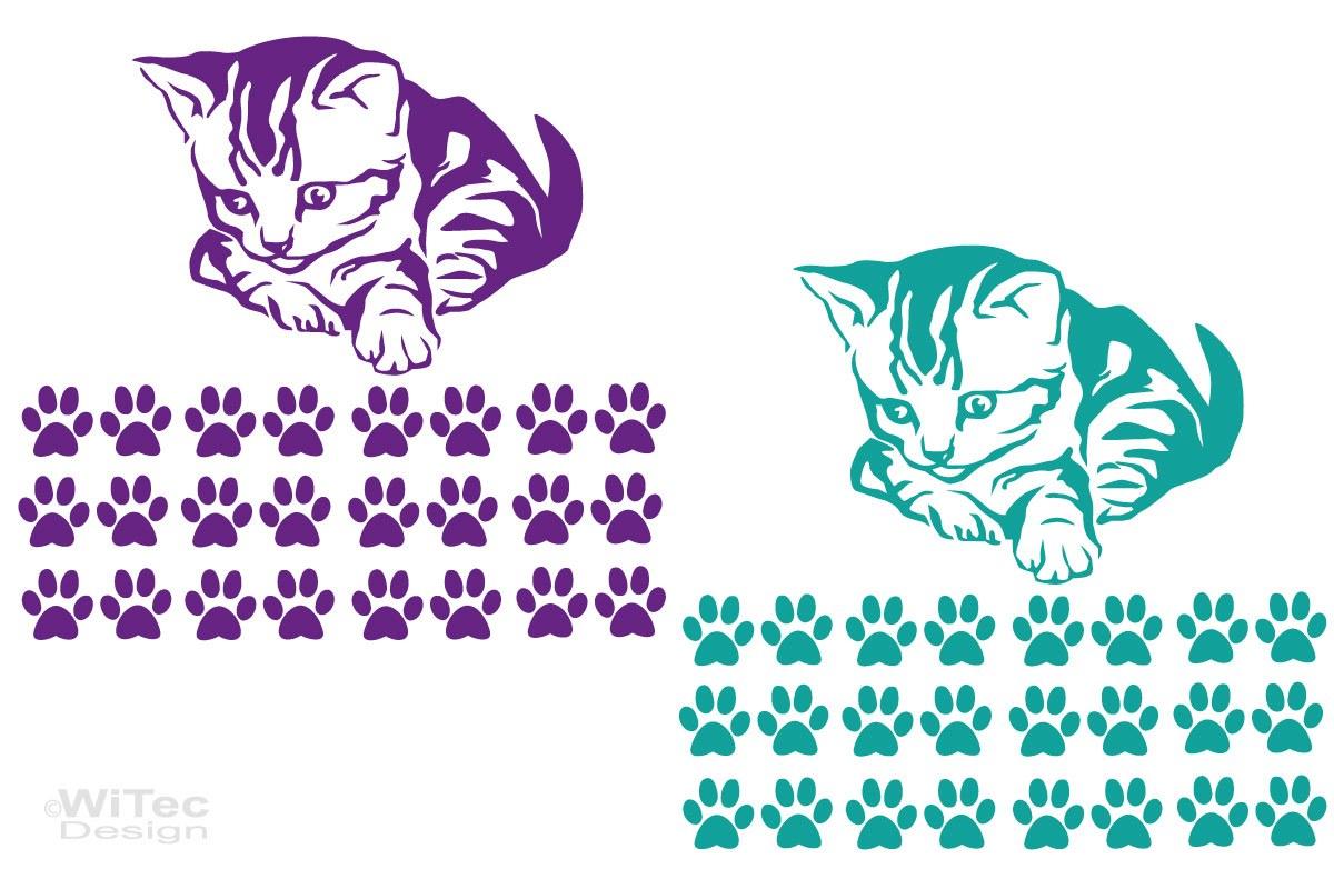 Autoaufkleber Katze Katzenpfoten Set Auto Aufkleber