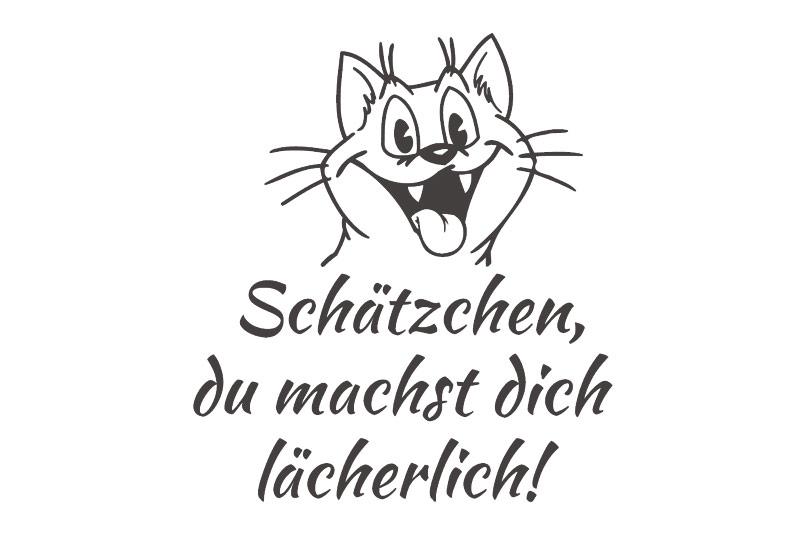 Autoaufkleber Katze Schätzchen Spruch Aufkleber Sticker