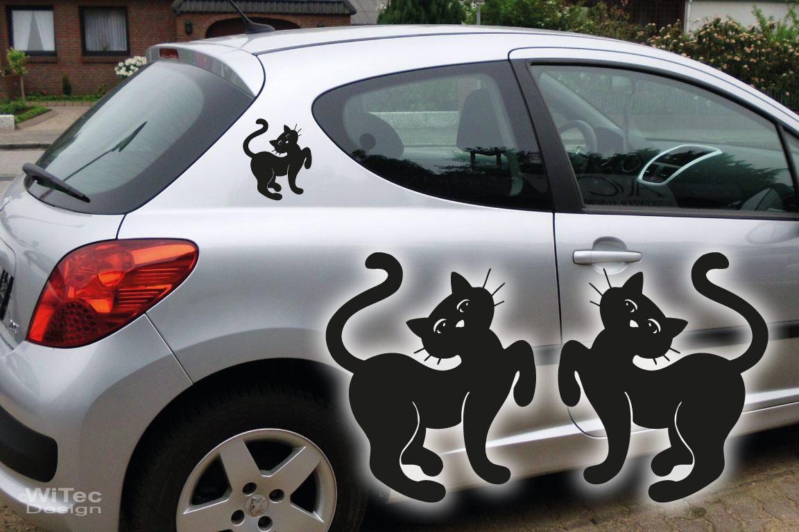 Autoaufkleber Katzen Kätzchen 2er Set Sticker