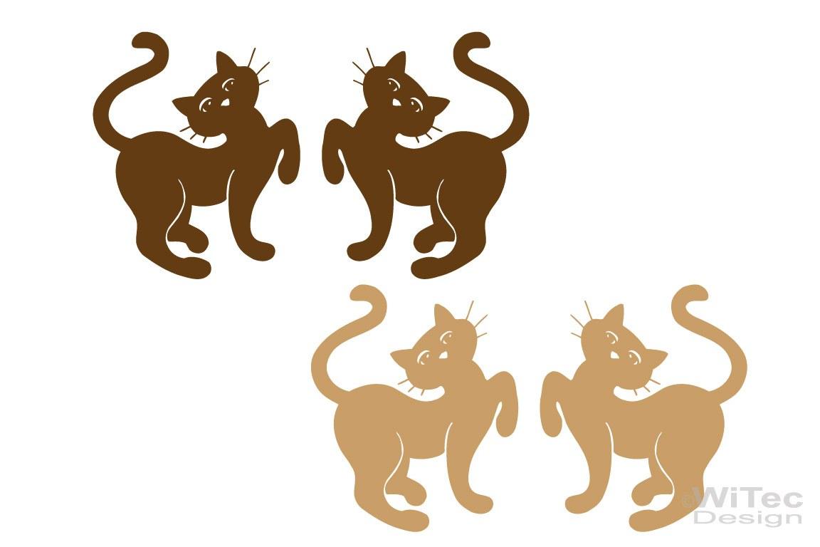Autoaufkleber Katzen Katze 2er Set Sticker Aufkleber