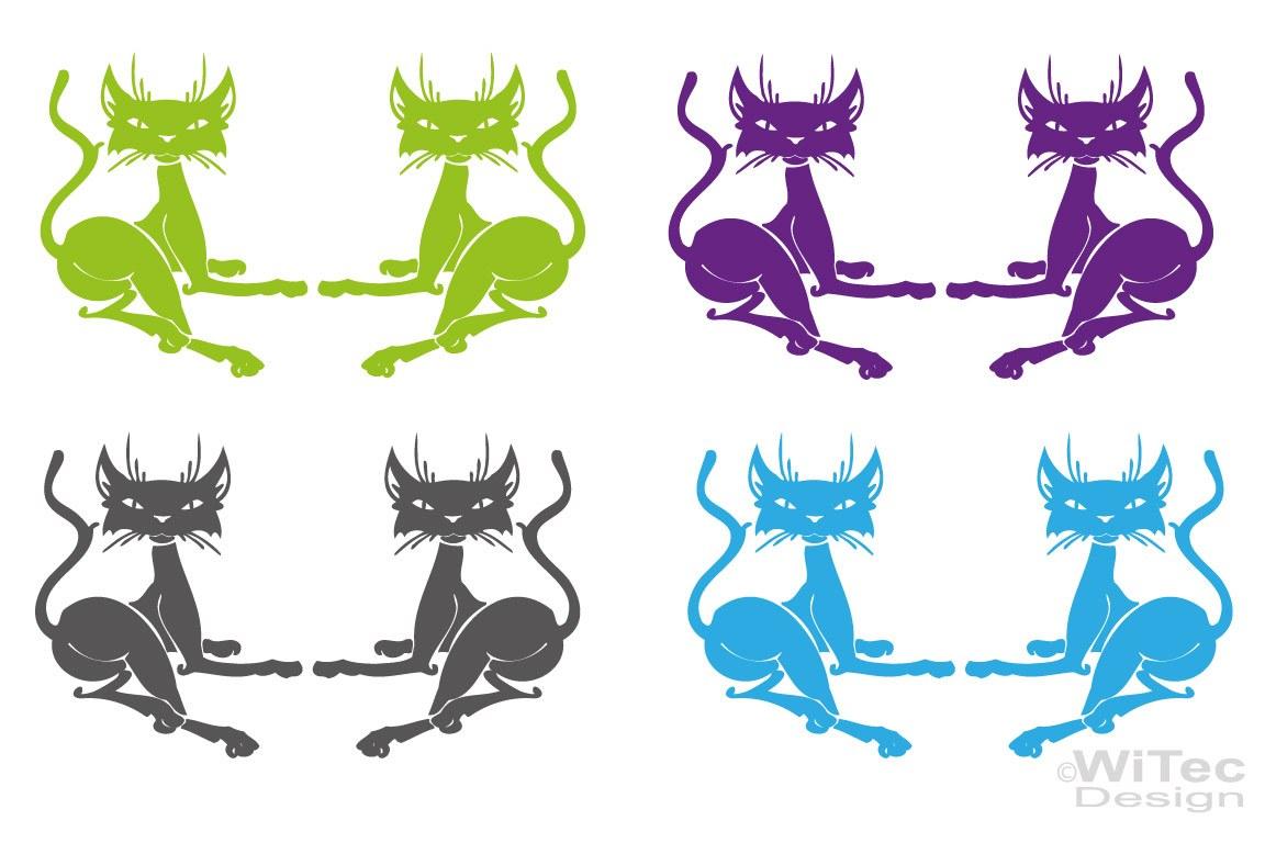 Autoaufkleber Katze Kätzchen 2er Set Auto Aufkleber