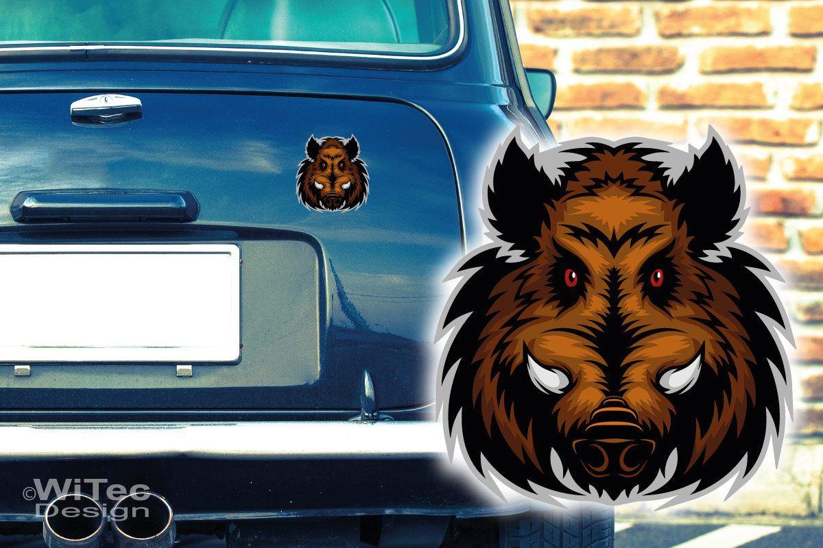 Auto Aufkleber Keiler Wildschwein Autoaufkleber Sticker