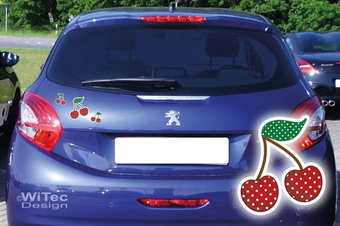 Auto Aufkleber Kirschen Autoaufkleber Sticker
