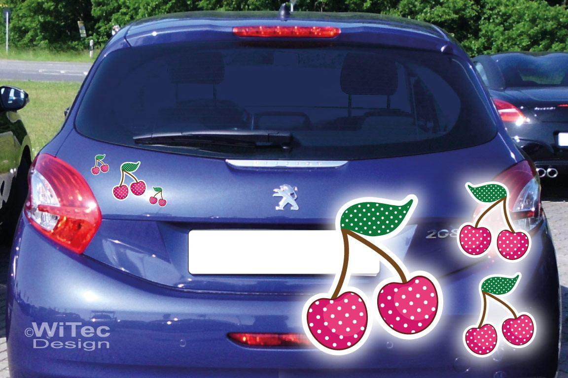 Auto Aufkleber Kirschen Autoaufkleber Sticker Pink