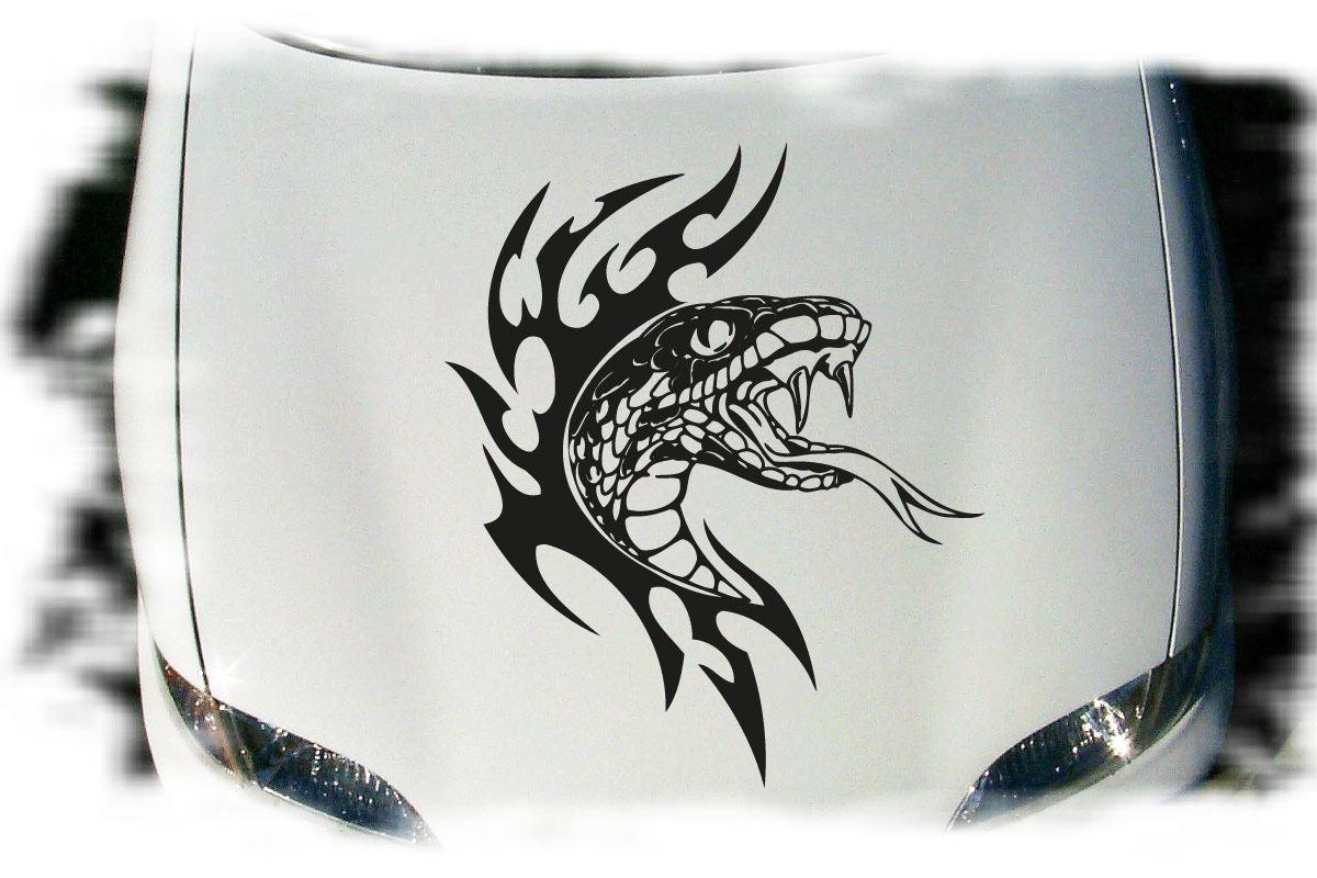 Kobra Auto Aufkleber Tattoo Motorhaube