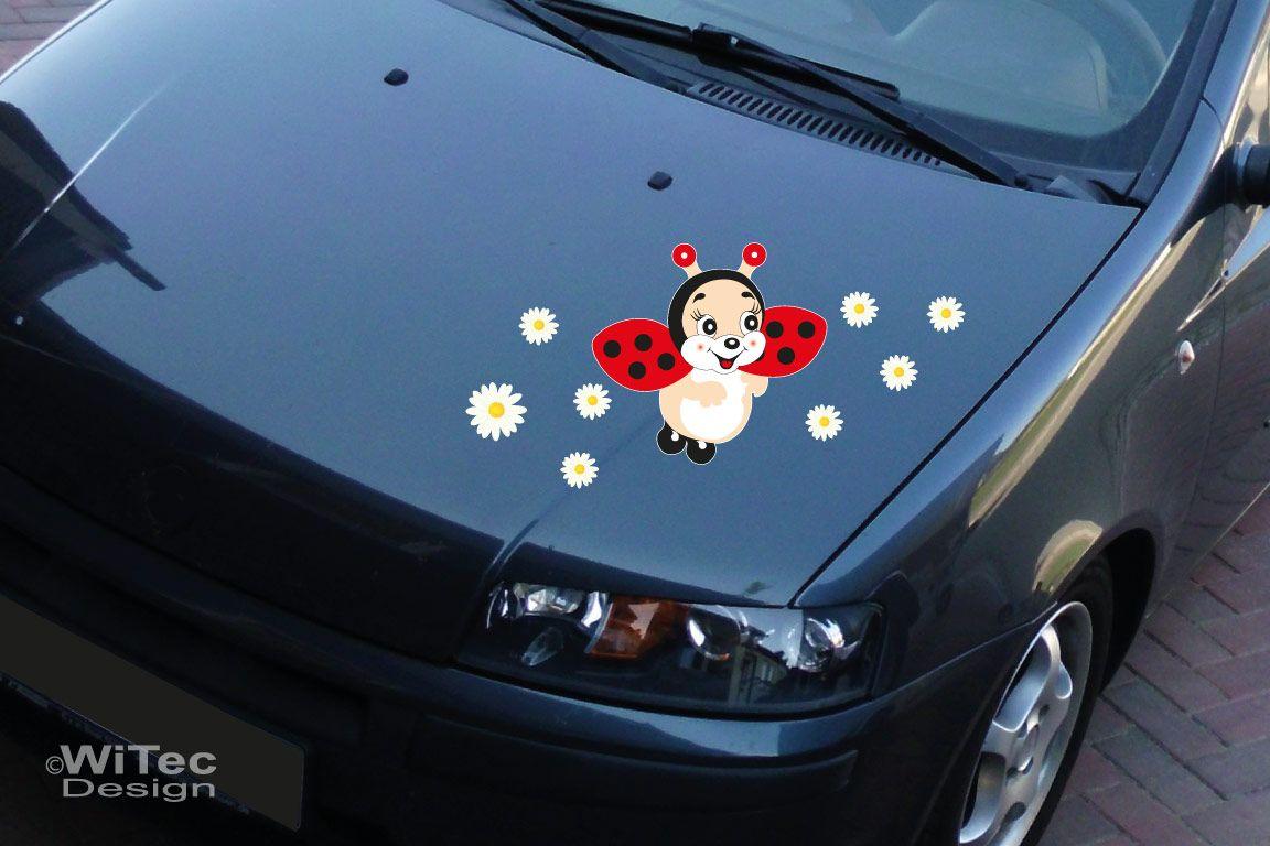 Auto Aufkleber Marienkäfer Blumen Autoaufkleber Sticker