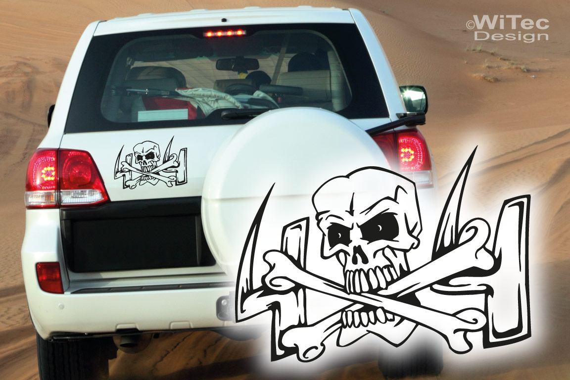 Autoaufkleber Offroad Skull 4x4 Crossbones Auto Aufkleber
