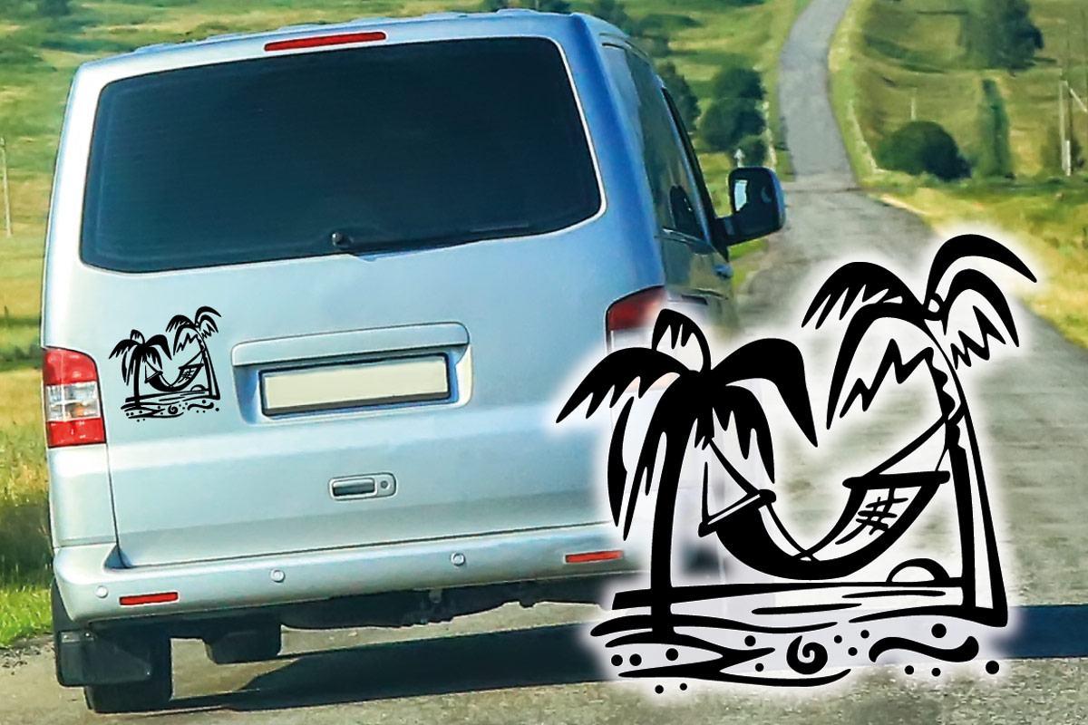 Starnd Palme Hängematte Auto Aufkleber