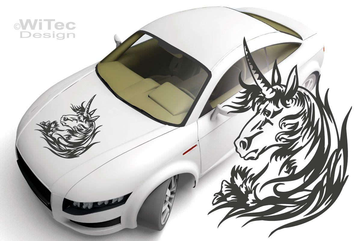 Autoaufkleber Einhorn Pferde Auto Aufkleber Unicorn