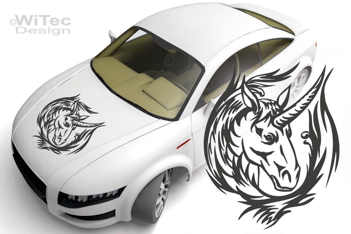 Autoaufkleber Einhorn Pferde Auto Aufkleber Unicorn Tattoo
