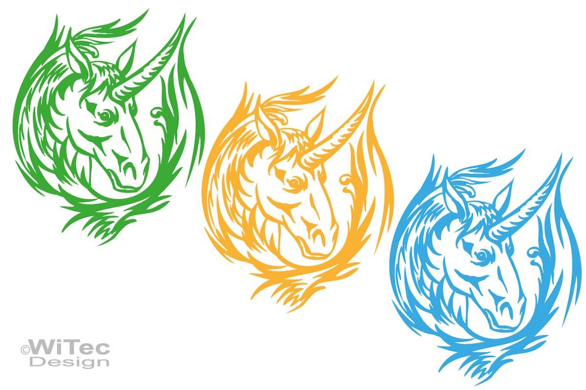 Auto Aufkleber Einhorn Pferd Unicorn Autoaufkleber Motorhaube Tattoo