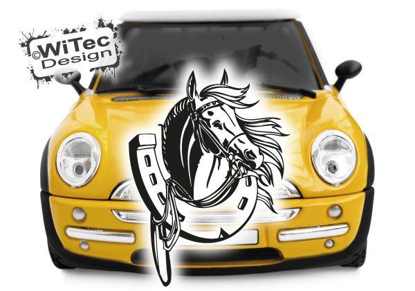 Autoaufkleber Pferd Hufeisen