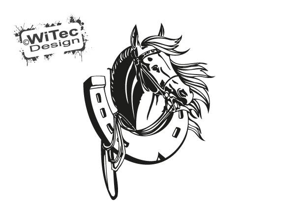 Pferd Autoaufkleber Hufeisen