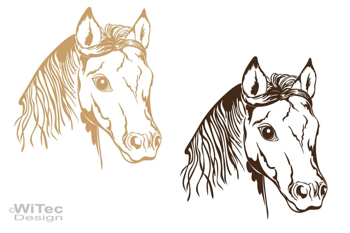 Auto Aufkleber Pferdekopf Pferd Autoaufkleber Motorhaube Tattoo