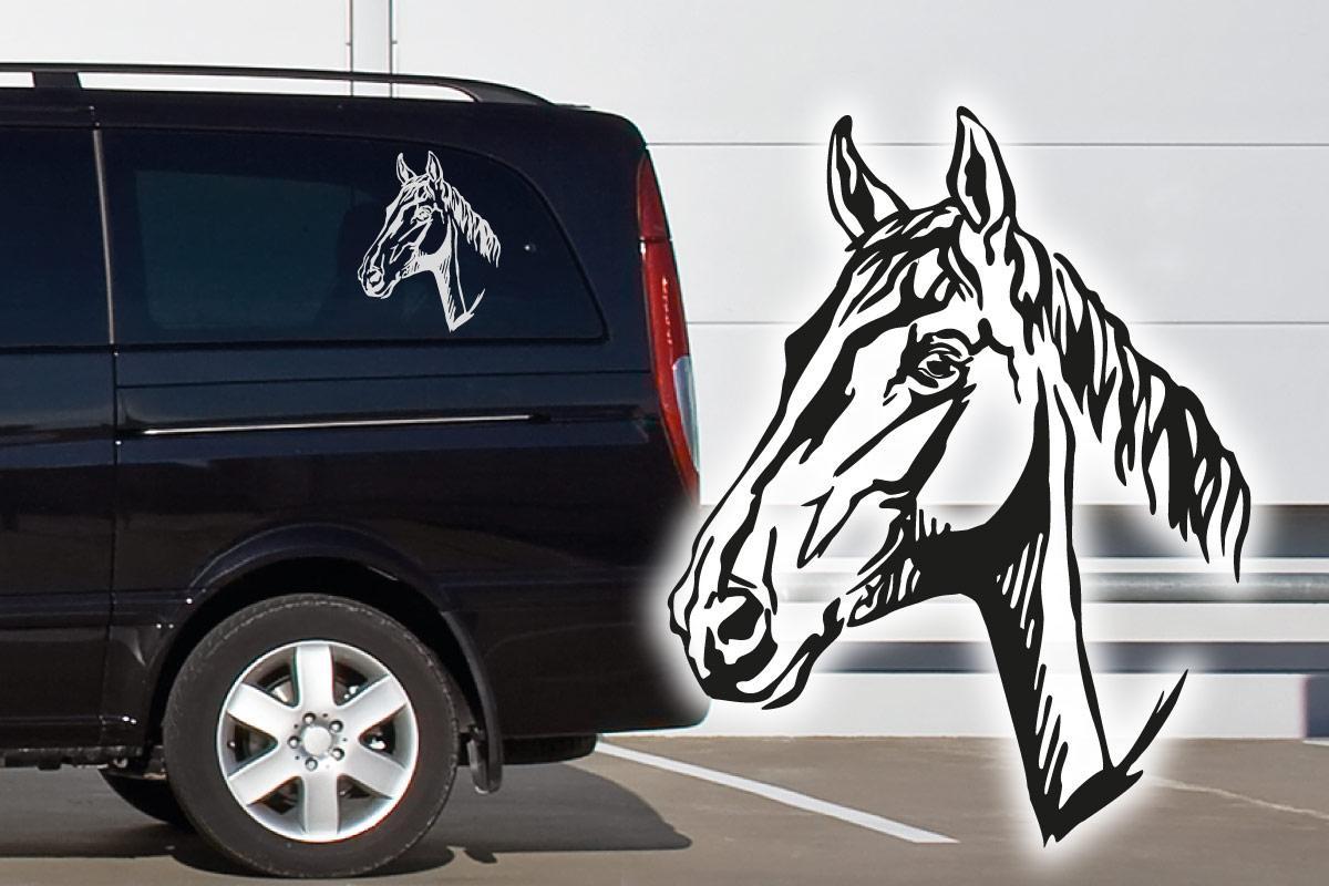 Trakehner Auto Aufkleber Pferde