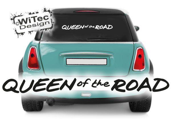 Autoaufkleber Queen of the Road Heckscheibenaufkleber