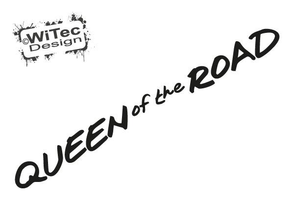 Queen of the Road Autoaufkleber