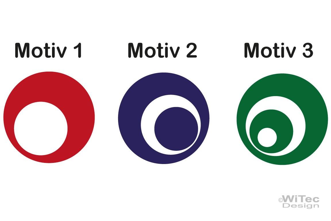 Auto Aufkleber Retro Dots Kreise Sticker Set Autoaufkleber