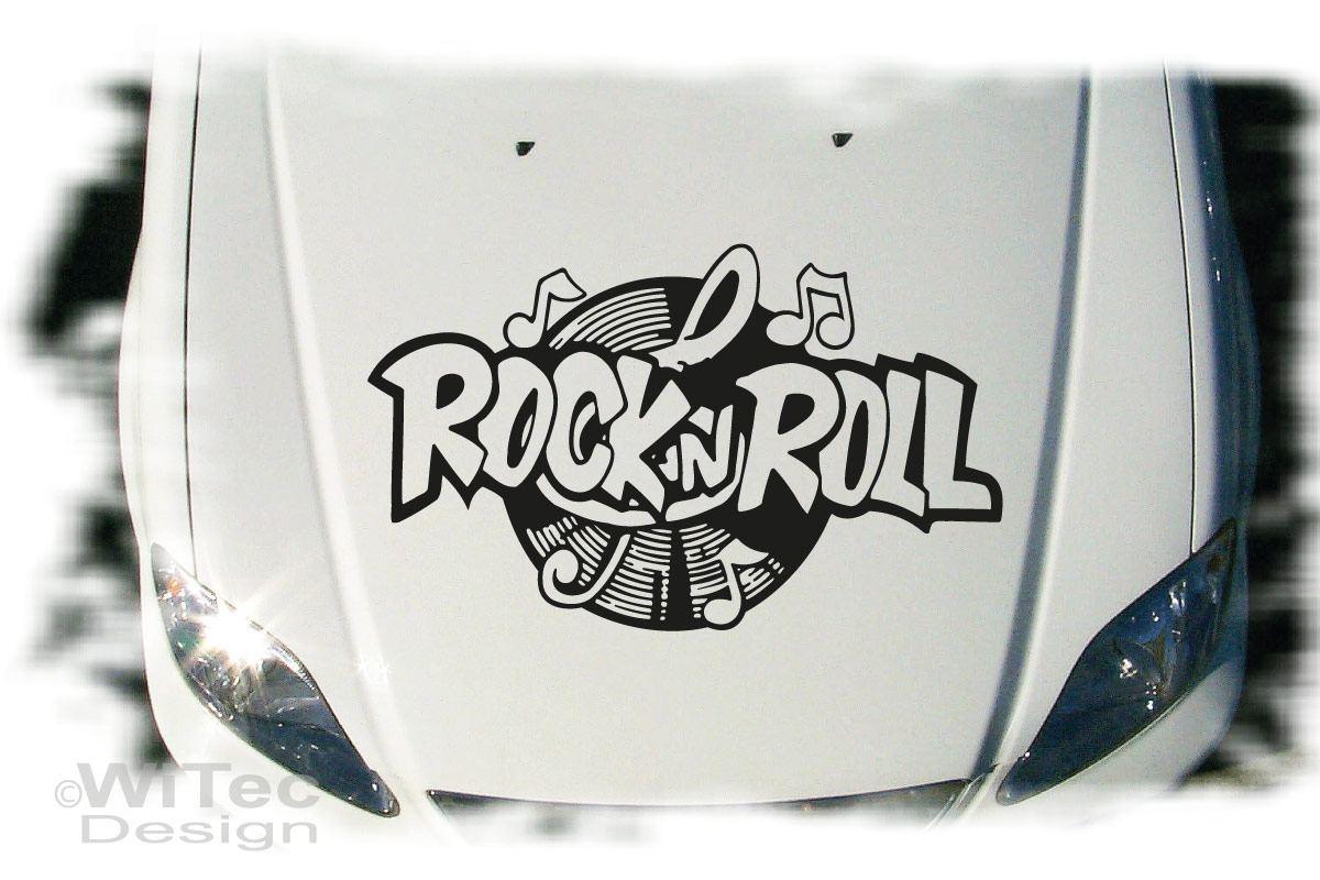 Autoaufkleber Rock`n Roll Auto Aufkleber Tattoo