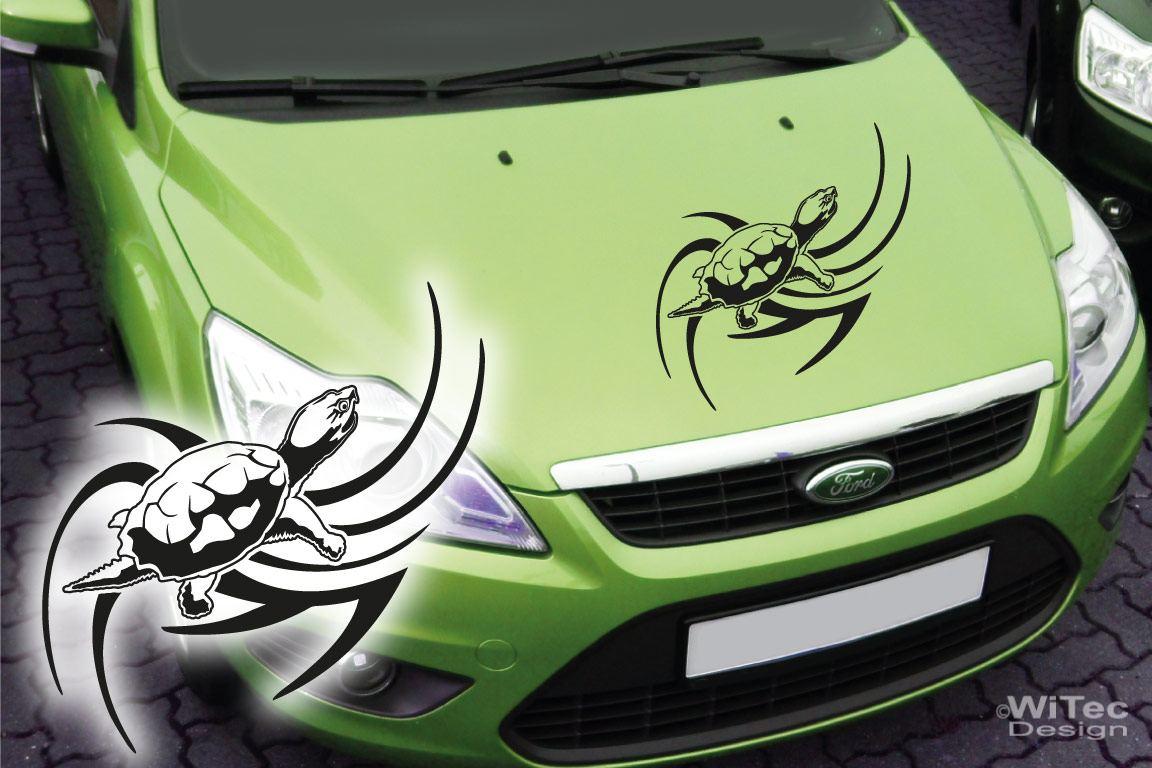 Autoaufkleber Schildkröte Turtle Auto Aufkleber Kopf Tattoo