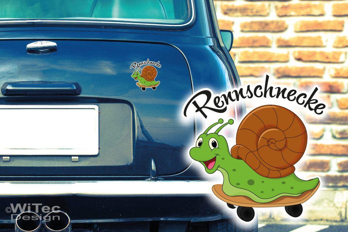 Autoaufkleber Schnecke Rennschnecke Auto Aufkleber