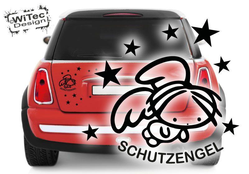 Autoaufkleber Schutzengel Sterne