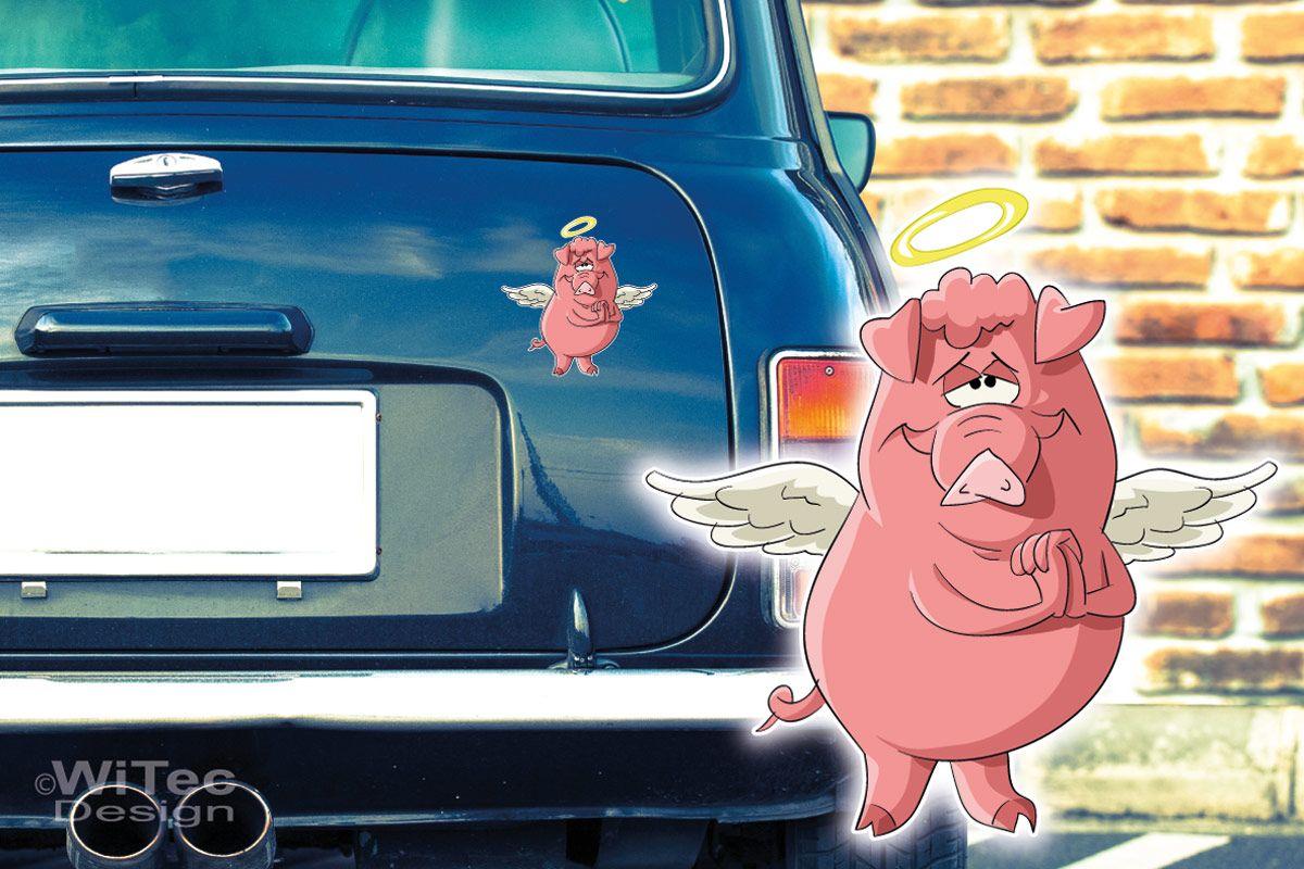 Engel Auto Kühlschrank : Autoaufkleber schwein engel auto aufkleber digitaldruck
