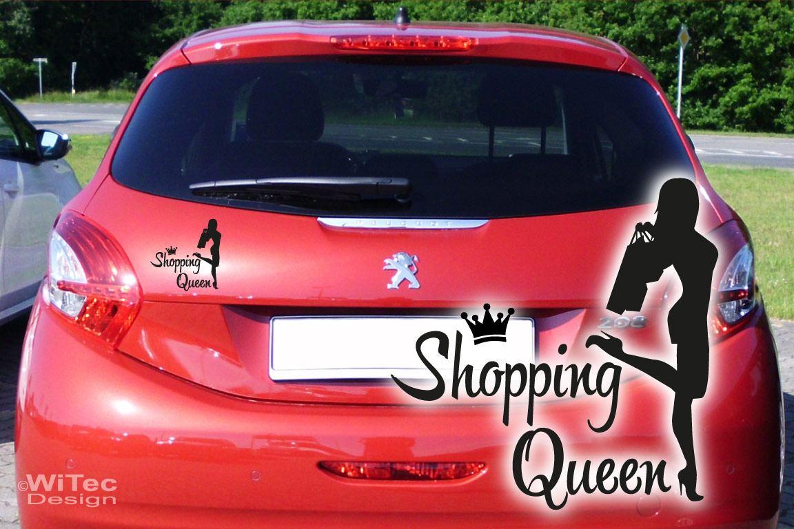 Shopping Queen Auto Aufkleber Autoaukleber Sticker