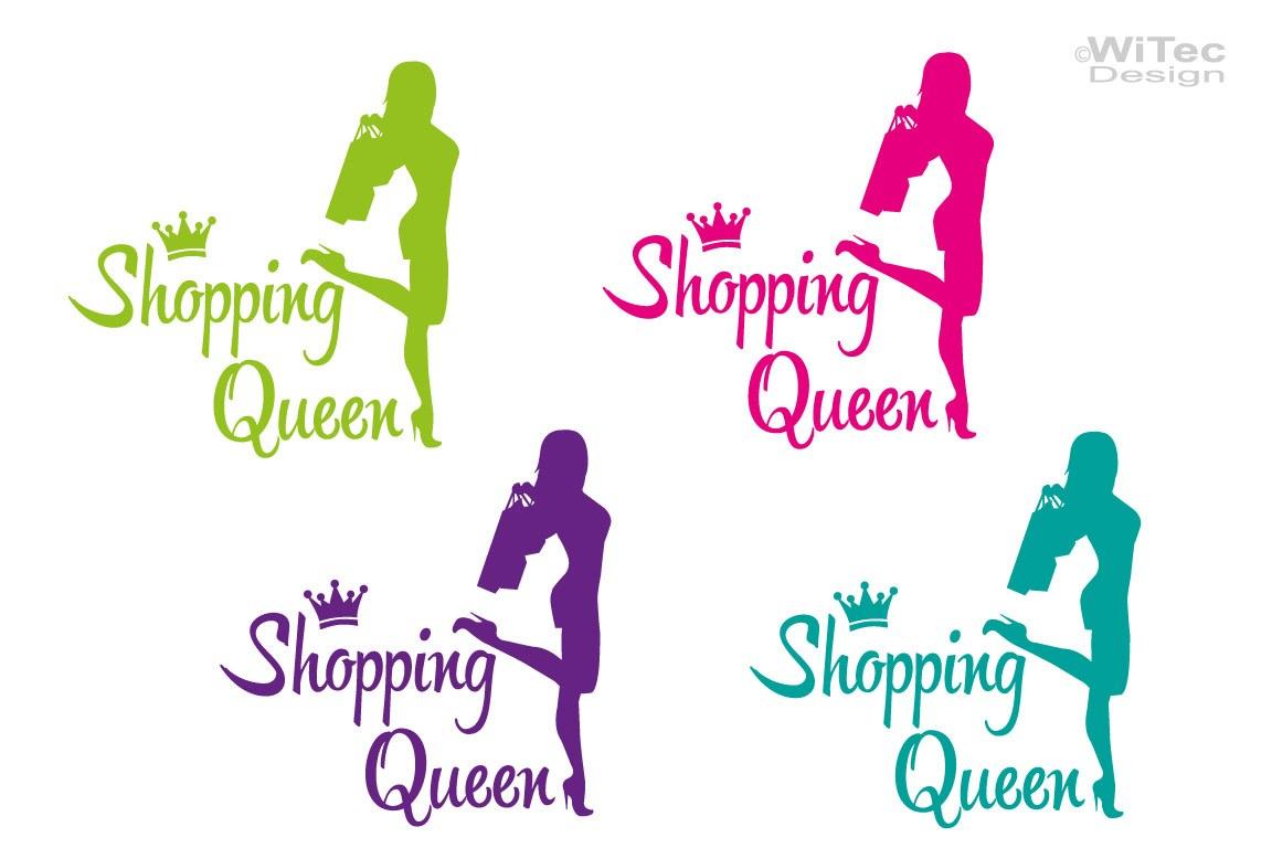 Shopping Queen Autoaufkleber Auto Aukleber Sticker Krone