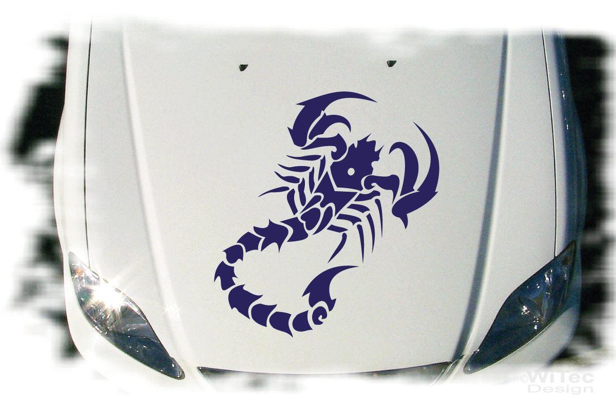 Auto Aufkleber Skorpion Autoaufkleber Motorhaube Tattoo