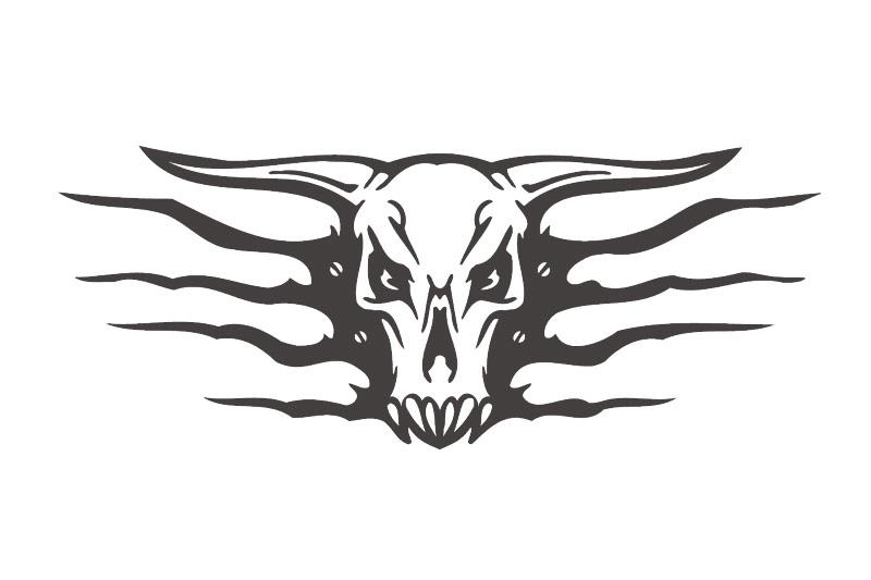 Autoaufkleber Skull Bull Stier Offroad Auto Aufkleber Sticker