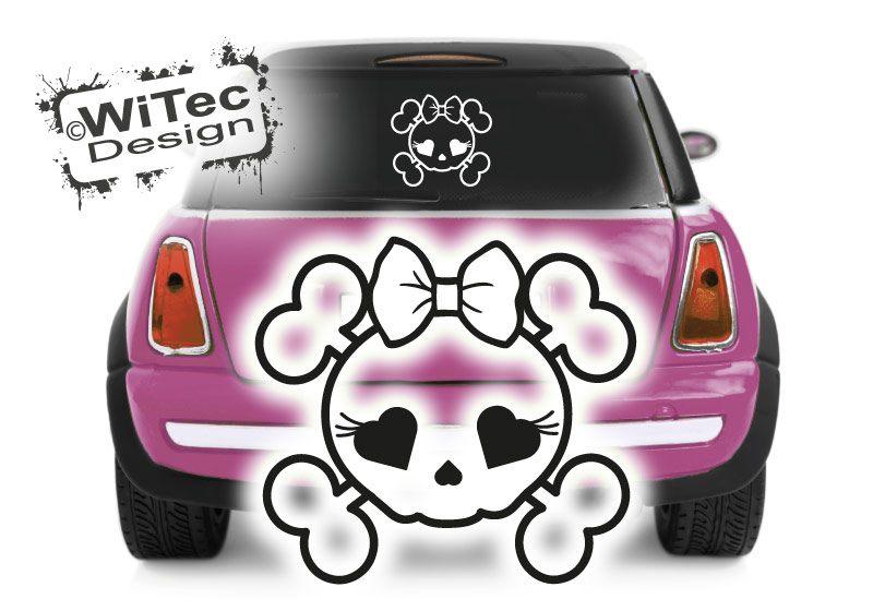 Skull Girl Autoaufkleber Rockabilly Auto Aufkleber