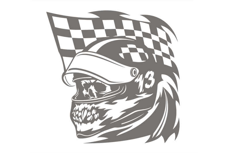 Autoaufkleber Skull Racing Flags Auto Aufkleber Sticker